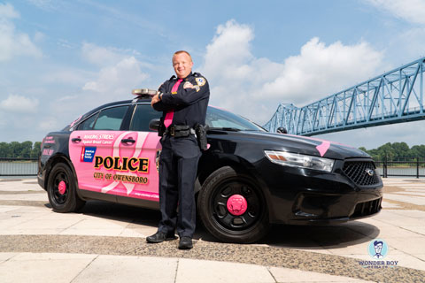 Sergeant Adam Johnston Wears Pink to Save Lives
